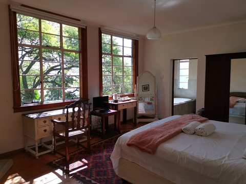 light and bright luxury room with original oregan pine floors